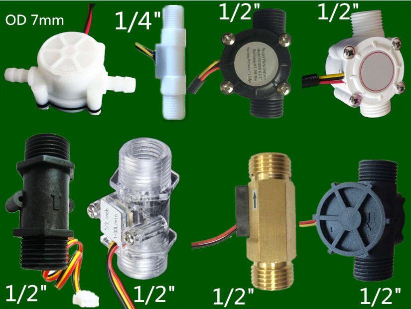 low flow rate water Hall turbine flow sensor meter
