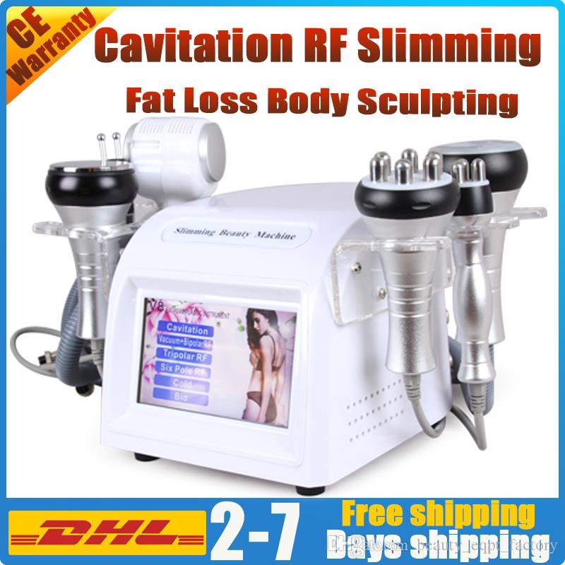 6in1 Cavitation machine de beauté minceur de fréquence radio à ultrasons enlèvement de callulite tripolaire rf liposuccion sous vide de la forme du corps de lifting