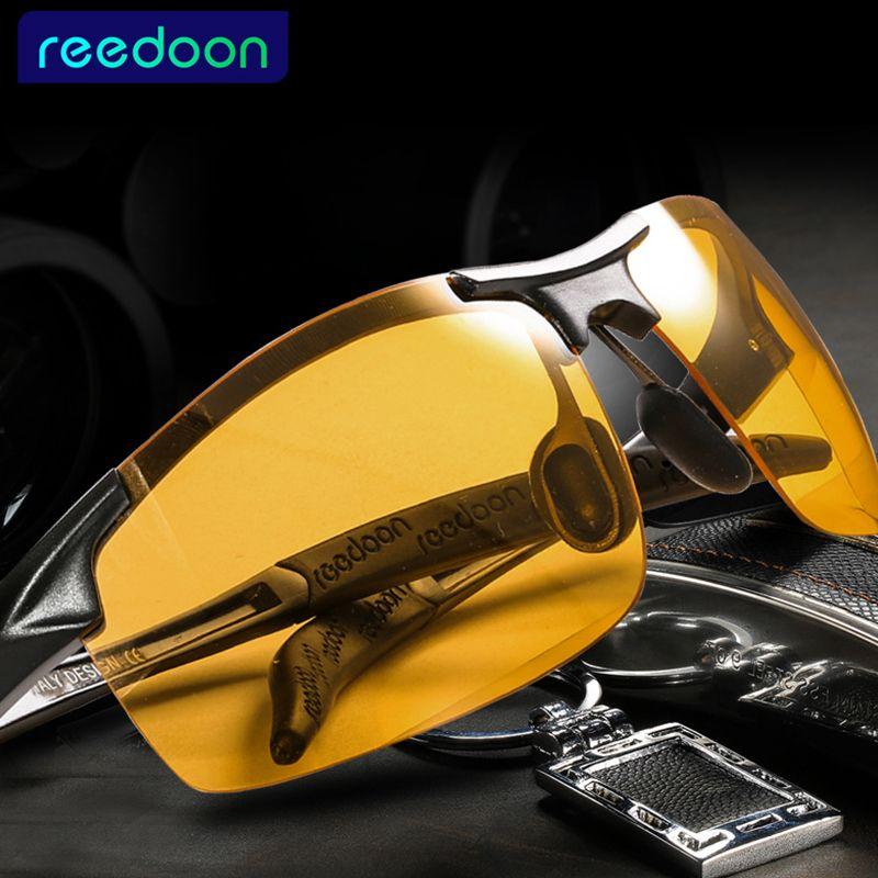 2018 Day Night Vision Goggles condução óculos polarizados para o carro dos homens de condução óculos anti-reflexo Alloy óculos de armação noite T200108
