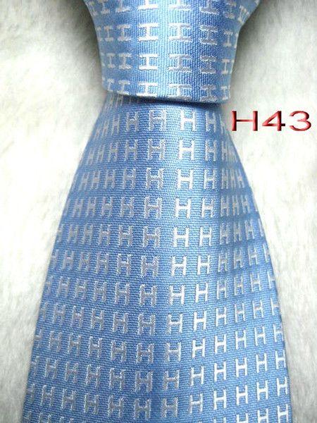 H-43 # 100 % 실크 자카드 직물 수제 남성의 넥타이 넥타이