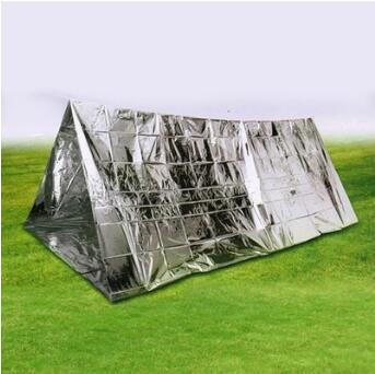 240x150x90cm Tenda di emergenza monouso Campeggio di emergenza Riparo Isolamento Shack Shelter PET Survival Tube Tent Pad Outdoor CCA11517 30 pz
