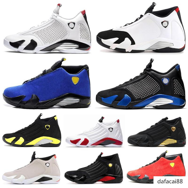 2019 14 14s Desert Sand Black Toe Fusion Varsity Red Suede Thunder Men Basketball Shoes Varsity Royal DMP Candy Cane Sneakers size us8-13