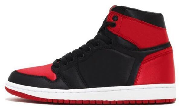 Cheap Better Quality 1 Satin Banned Bred Royal Blue 1s Satin Shattered Backboard Black Toe Basketball Shoes Men And Women Sports Sneakers Wi