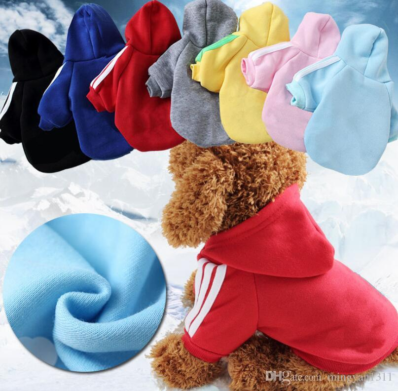 Dog Hoodies Winter Warm Clothes Fashion Printed letters Warm Dogs Cats Sweater Teddy Chihuahua Two Legs Clothing for Pets coat
