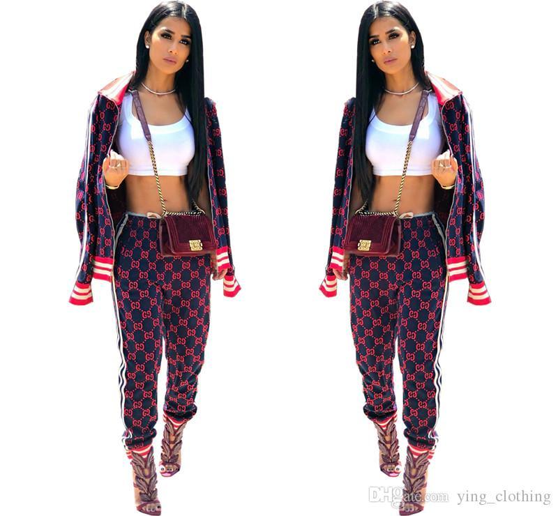 Women Jacket Tracksuit 2 Piece Set Coat+Pants Zipper Sports Suit Long Sleeve Outfits High Neck Tops+Leggings Fall Winter Clothing 2125
