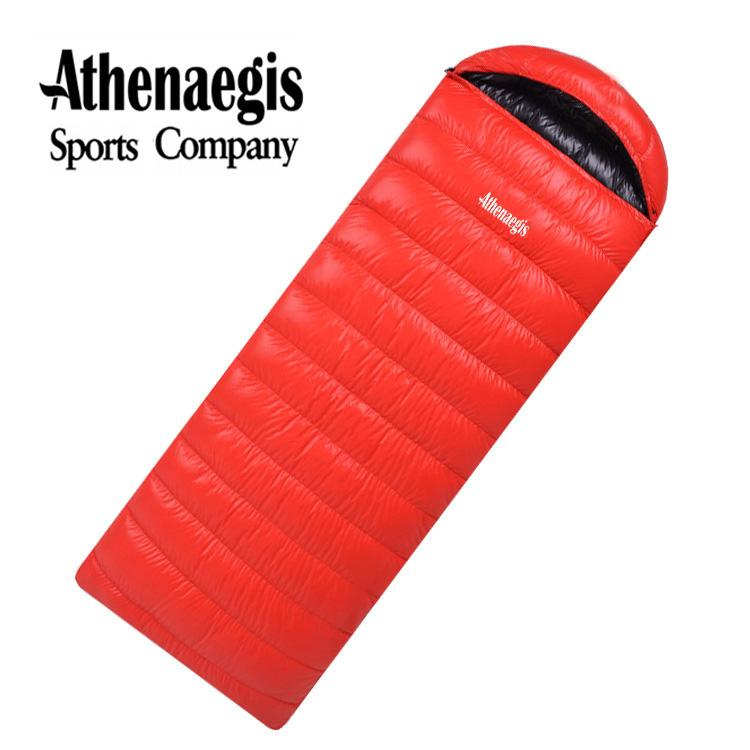 Athenaegis comfortable white duck down 2000g 2200g 2500g filling can be spliced envelope adult waterproof sleeping bag