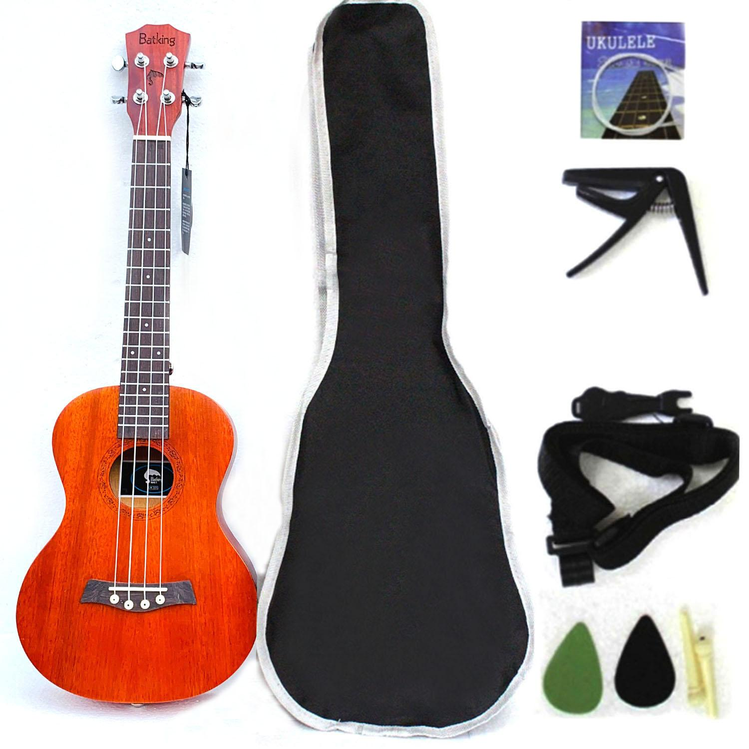 Concert Ukelele Solid Top Mahogany 23 Inch With Ukulele Accessories With Gig Bag