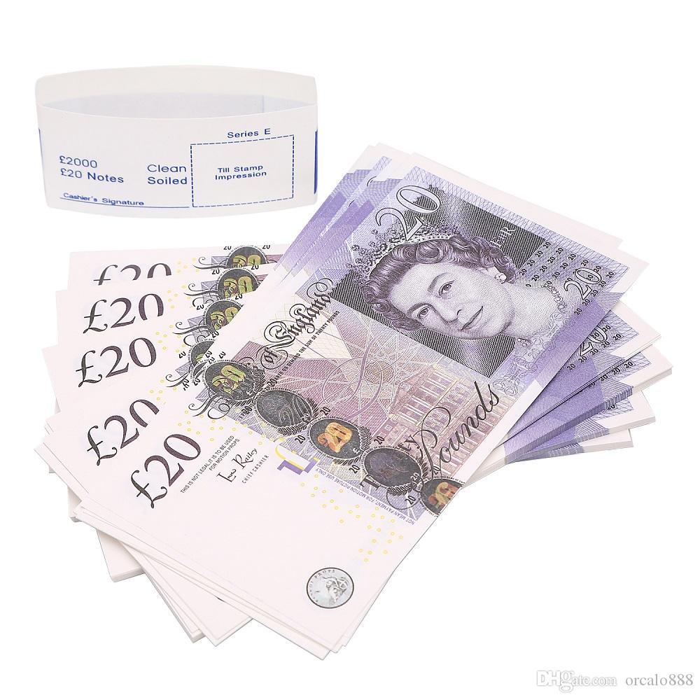 최고의 소품 / 팩 영국 돈 종이 지폐 소품 돈 100PCS 복사 척
