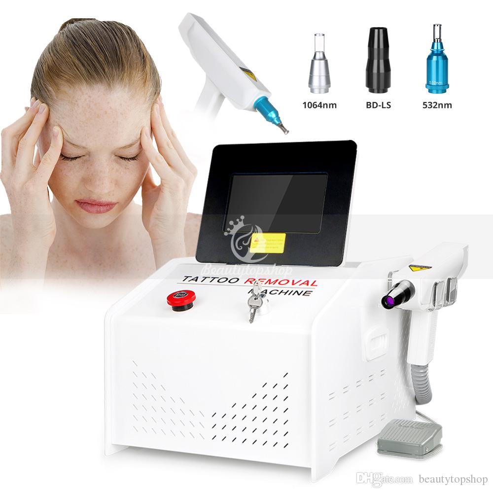 Chegada nova 1000 MJ YAG Laser Q-Switch Remoção de Tatuagem ND 532nm / 1064nm / 1320nm Laser Equipamentos