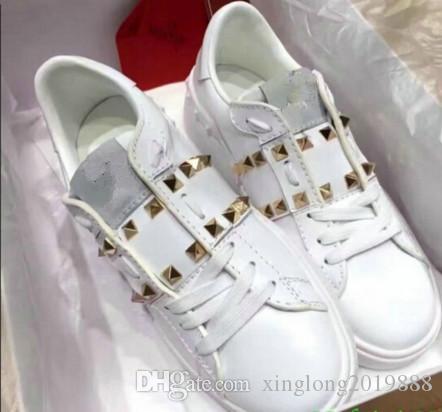 NUOVE scarpe da ginnastica di marca rivetta Marca Donna Uomo Scarpe in pelle mesh mista Scarpe colori Trainer Runner unisex 2020 formato 35-40