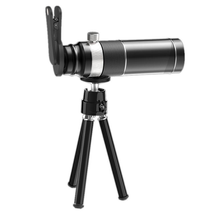 Universal 20X Mobile Phone HD telefoto lente do telescópio com tripé Clipe