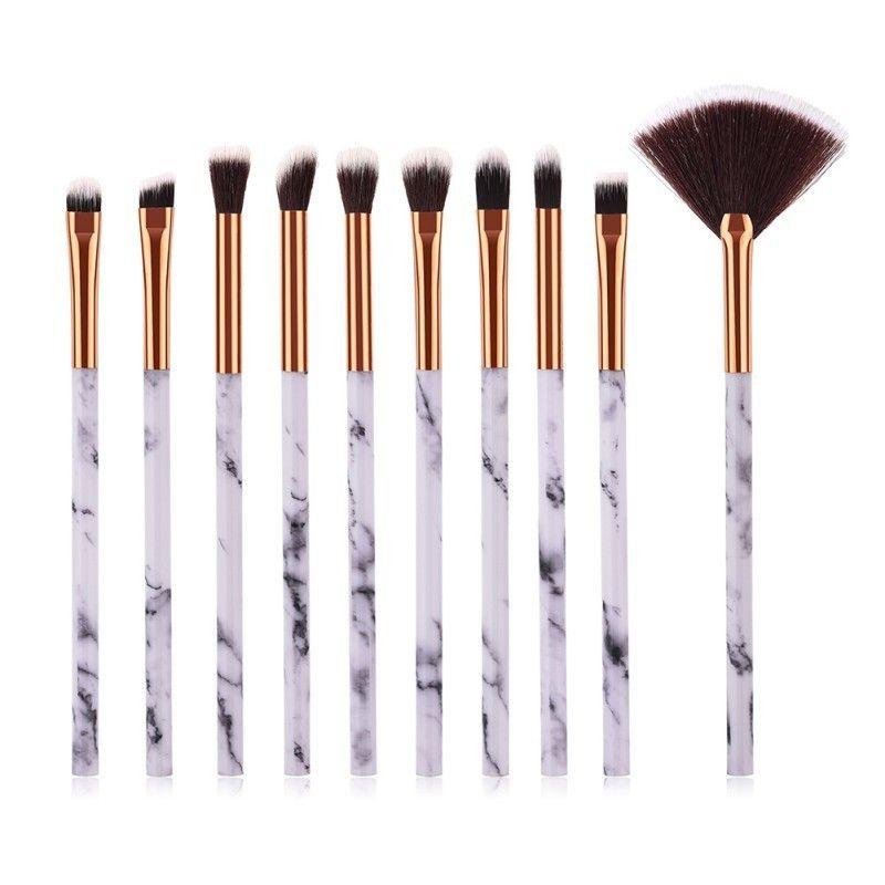 Professional Marble Make Up Brushes Eye Shadow Liner Full Makeup Brush Kit Soft Hair Eyes Pencil