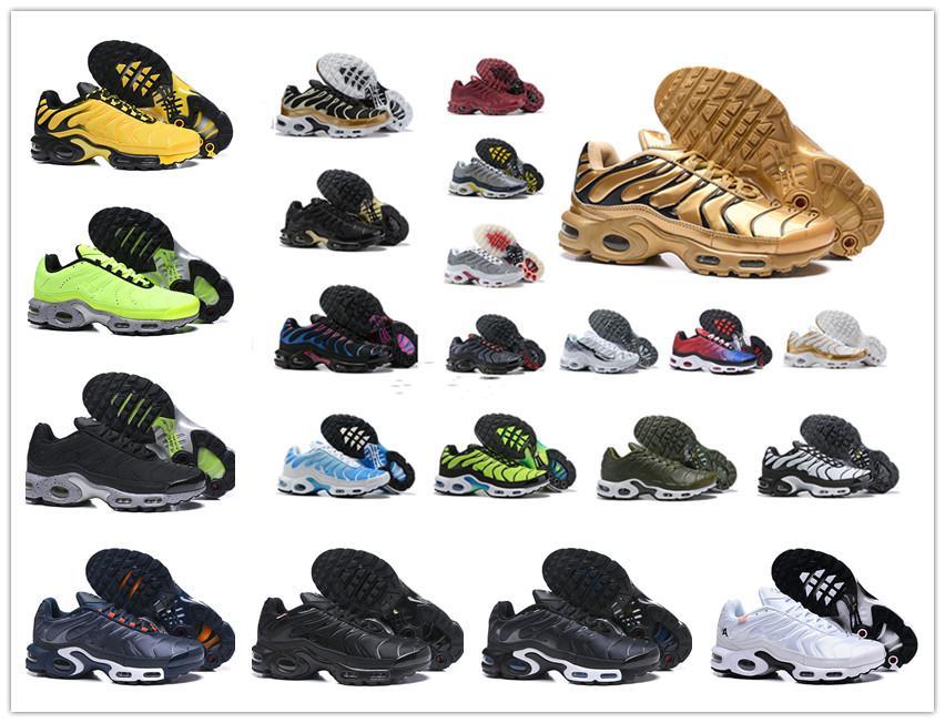 Zapatos casuales de descuento calidad de Hight Deportes Nueva TN zapatos y Hombres Negro Rojo Blanco para hombre Runner transpirable zapatillas de tenis hombre Formadores