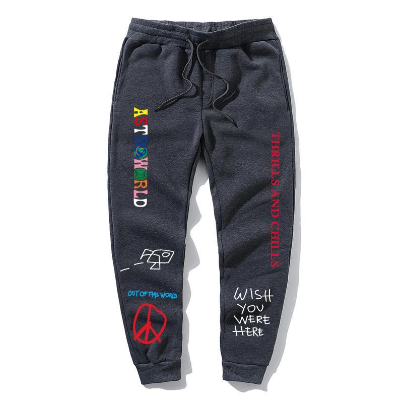 Трэвис Скотт ASTROWORLD письмо печатные брюки женщины мужчины хип-хоп уличная одежда мужчины тренировочные брюки Swag Cactus Jack Tour тренировочные брюки T200324