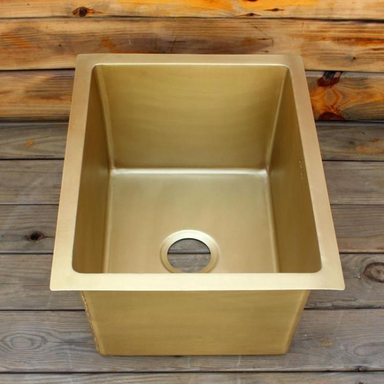2019 Smooth Surface Brass Bar Sink Undermount Sink Single Bowl Brass  Kitchen Sink From Sellergc, $621.11   DHgate.Com