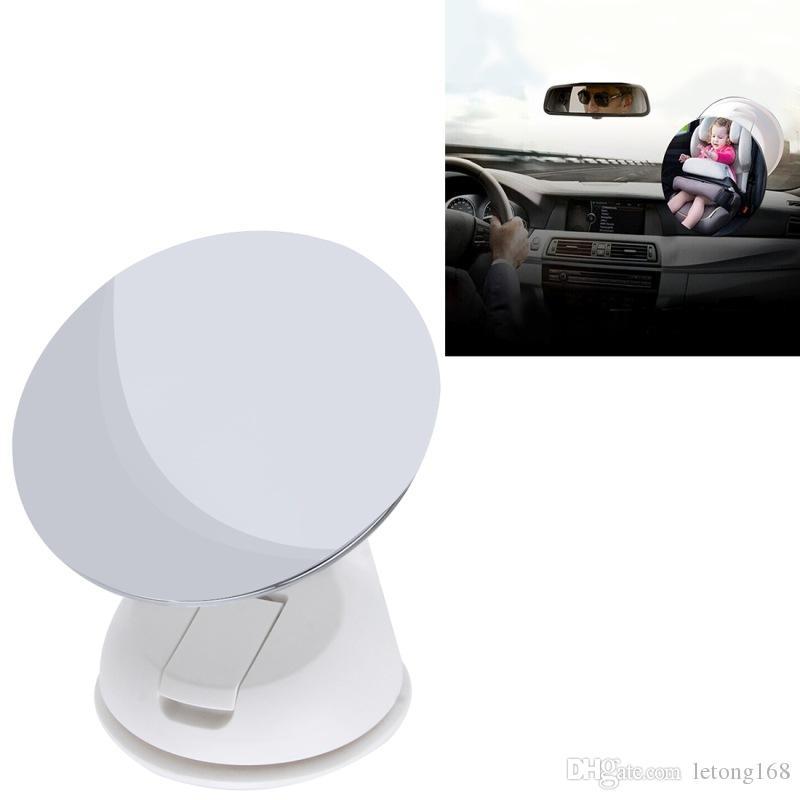 Espejo Asiento de visualización reflectante espejo circular convexo de visión trasera de ángulo muerto auxiliar de seguridad para niños