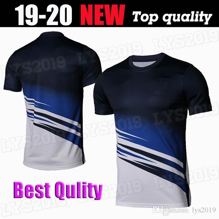 KANTE Willian Giroud Formación jerseys del fútbol 19 20 adulto azul negro Fútbol de 2020 de entrenamiento de fútbol Uniformes Ventas No se puede imprimir