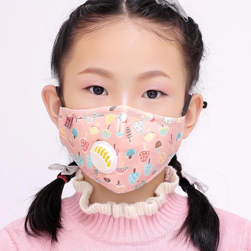 Máscara niños 5layers Mascarillas de dibujos animados con filtro de salida de gases Máscaras anti polvo niños a prueba de polvo de protección Máscara Diseñador Protección PM2.5