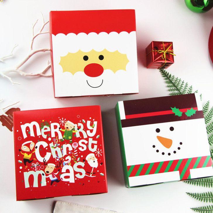 Design de Noël 2019 Boîte cadeau en papier avec emballage cadeau Emballage cadeau de bonbons bricolage Plus Caractéristiques