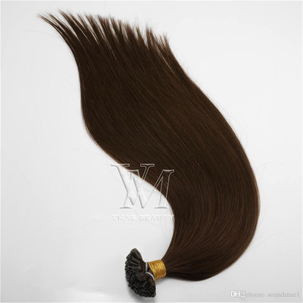 VMAE Strand Europe 1 g de Malaisie 100 g Naturel Noir Brun Blond droite Pre Fusion U kératine Tip Virgin Remy Hair Extensions Human