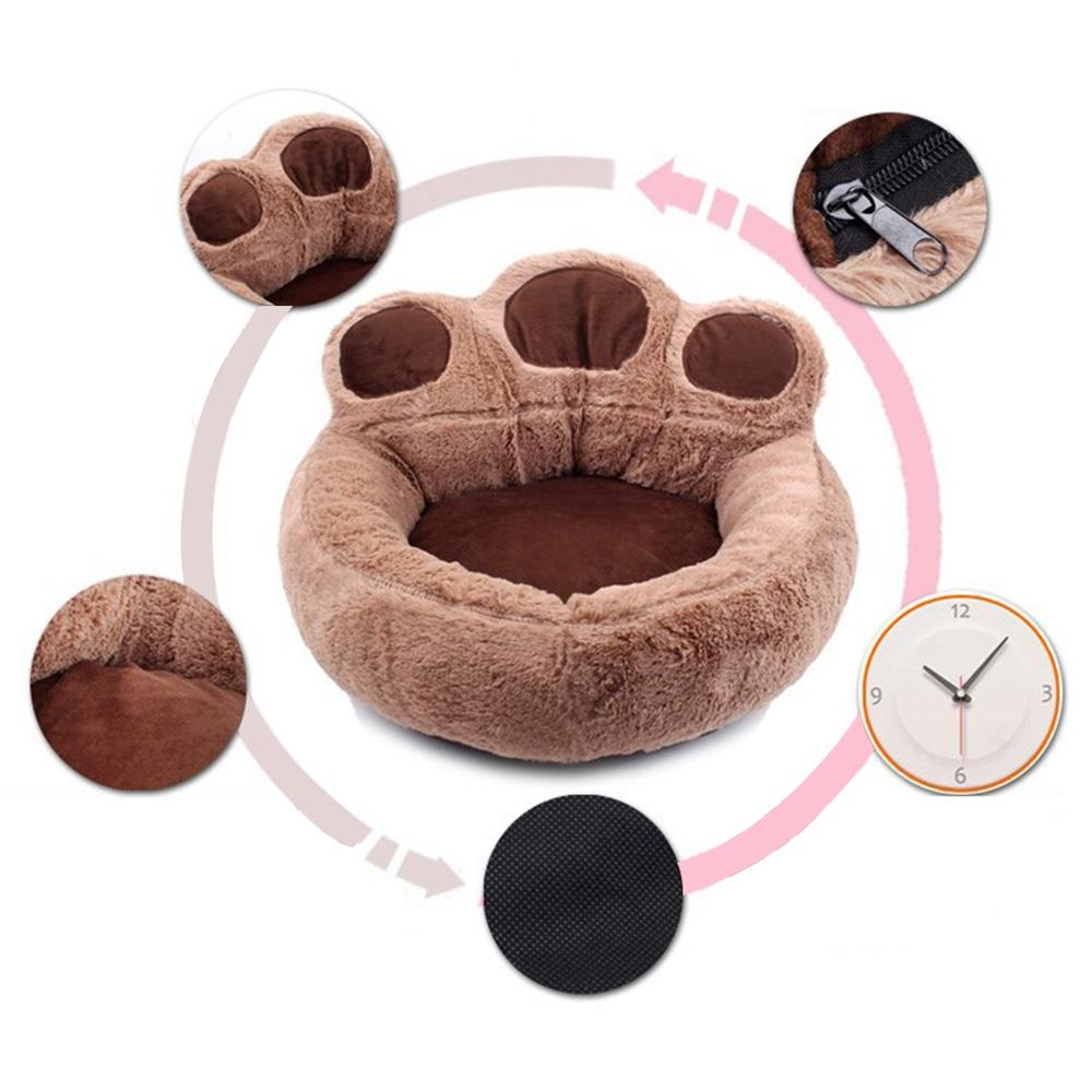 Bear Design Winter Warm Dog Puppy Soft Pad Bed House Nest Washable Small Dog Pet Cat Mat Cushion Kennels