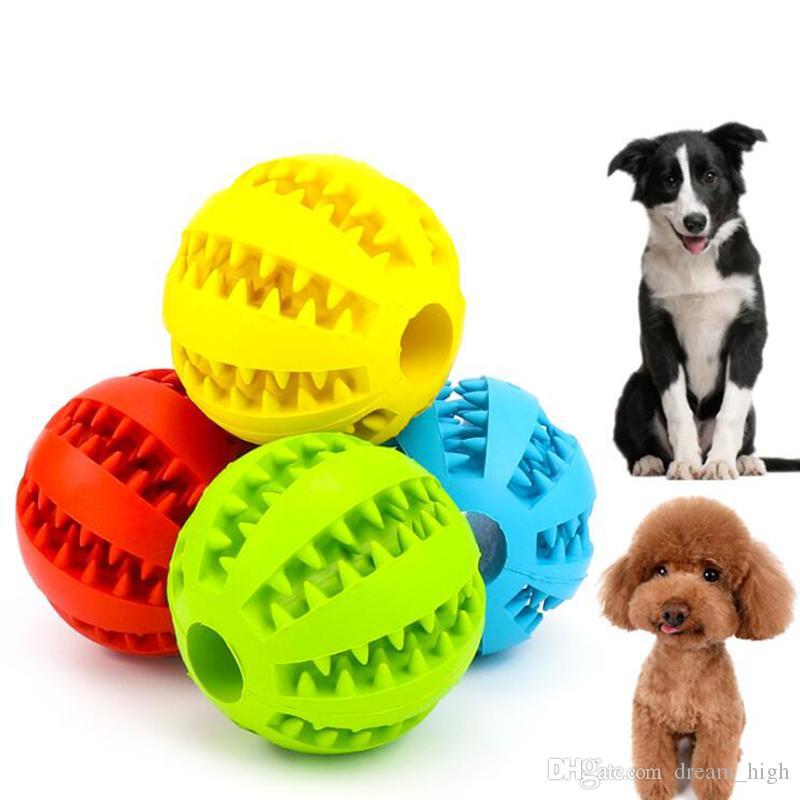 7 cm 5 cm perro juguetes para mascotas Funny Ball interactivo Dog Chew Toy Elasticidad de diente de perro limpia la bola de comida extra-dura bola de goma