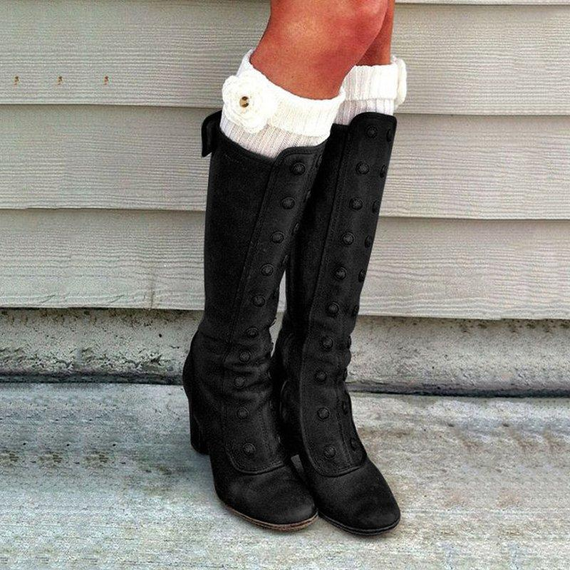 Knee High Boots Long Black Brown Autumn Boots Plus Size Womens Fashion Thigh High Buty Damskie Ab183 Over Knee Boots Boots For Girls From Xuezi 29 19 Dhgate Com