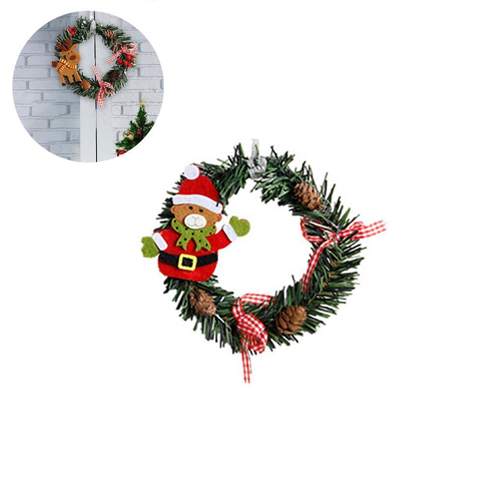 Natale decorato Ghirlanda di pino Garland Decorazione Con Pine Cone Red arco bacca Diametro 6 pollici - Orso