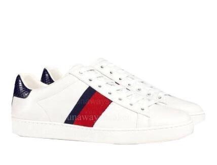 Le nuove scarpe di marca Mens di modo delle donne fuori in vera pelle di tigre bianca ape superiore serpente qualità tennis perla asso sneaker vendita grandi dimensioni 13 C04