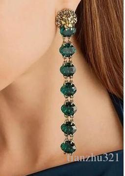 più colore gioielli in cristallo storne orecchini in argento 925 diamante testa di leone orecchini donna (30.72fgf) bg