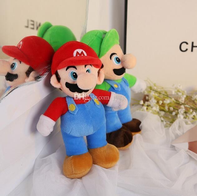 """Горячие Продажа 2 Стиль 10"""" 25см MARIO LUIGI Mario Bros плюшевые куклы Мягкие игрушки для ребенка, хорошие подарки"""