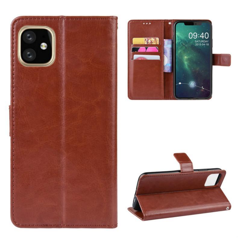 아이폰 (11)에 대한 가죽 케이스 프로 맥스 고급 PU 플립 지갑 카드 가방 홀더 전화 커버 아이폰 XS XR 8 7 플러스 무료 배송