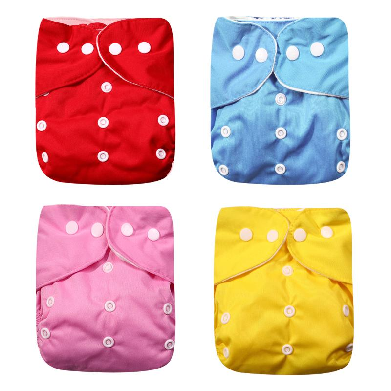 2020 New 4pcs/set Washable Eco-Friendly Cloth Diaper Adjustable Nappy Reusable Cloth Diapers Fit 0-2years 3-15kg baby