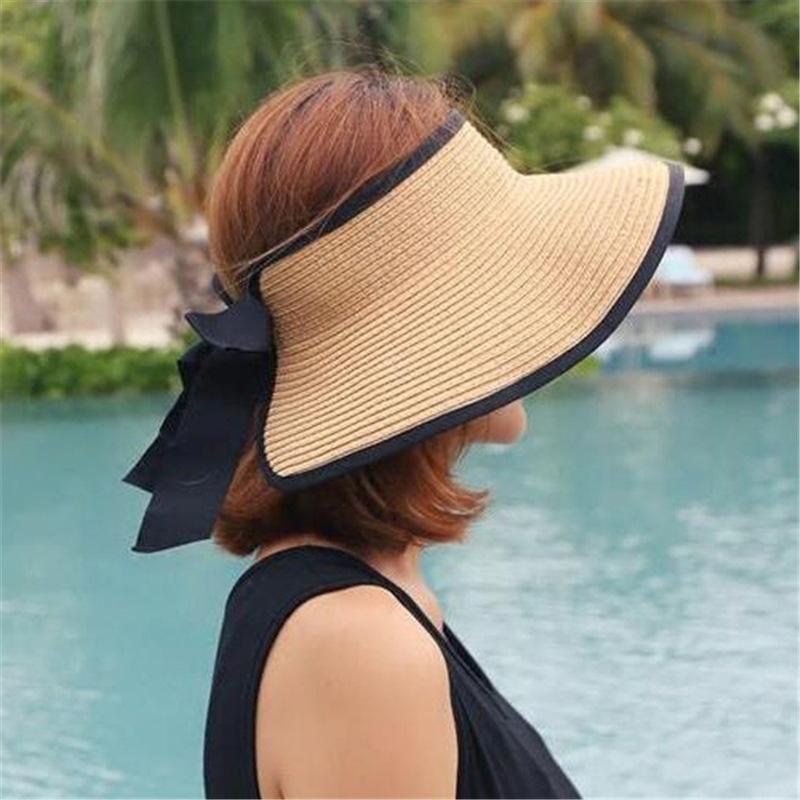 Femmes d'été à large Brim chapeaux INS mode personnalité charme Lady Chapeau élégant 6 couleurs motif réglable filles chapeaux de soleil
