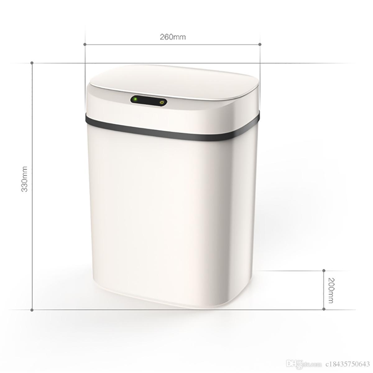 Poubelles Noires De Jardin acheter 12l poubelle automatique peut sans contact intelligent poubelle  dinduction avec seau intérieur circulateur sans contact couvercle calme  fermer