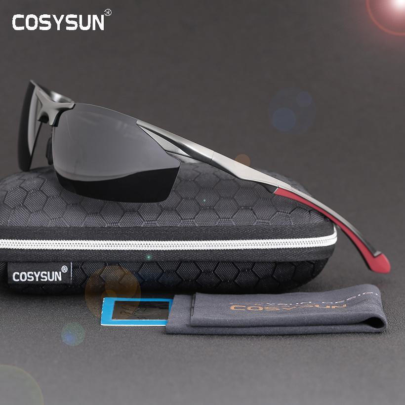 2019 Männer Polarisierte Randlose Aluminium Sonnenbrille Mann Fahren Gläser HD Polarisierte Sonnenbrille männlichen Goggle Sport Oculos de sol 8585 Y200420