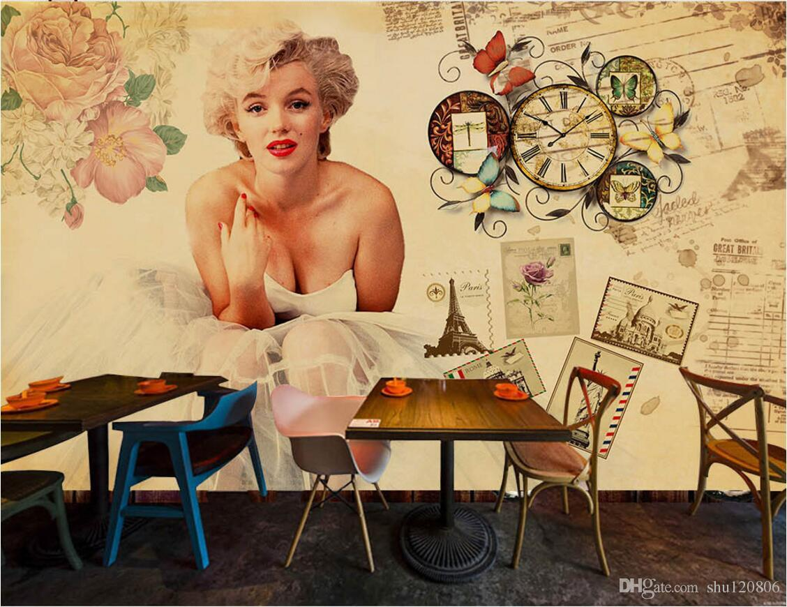 3d Wallpaper On The Wall Custom Photo Mural Retro Vintage Style