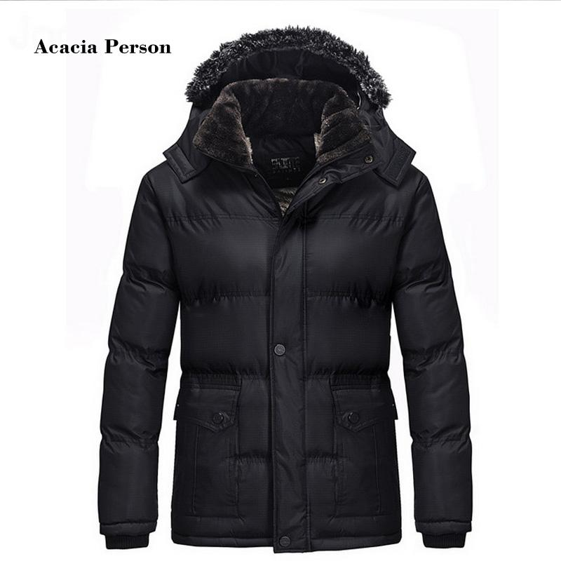 2018 Men Winter Jackets Parkas Snow Coats Fur Hood Male Warm Overcoat Tops Waterproof Windbreak Outwear Plus Size Brand Clothing