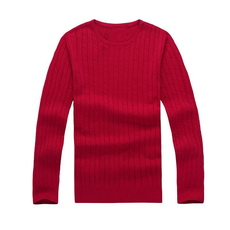 망 스웨터 겨울 크루 넥 캐주얼 니트 점퍼 스웨터 망 긴 풀오버 자수 캐주얼 바닥 스웨터
