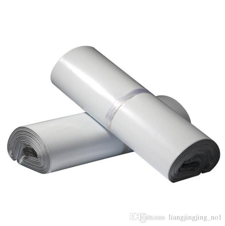 Sac d'expédition blanc 35 * 50cm Transport Emballage Express Courrier Courrier Post Mail Sacs Autocollants 100pcs / pack LJJO