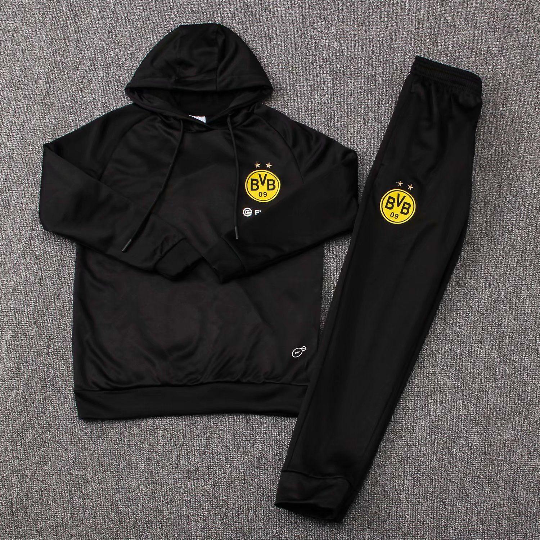 nero Giacca in pile Borussia Dortmund BVB Giacche Sport e tempo ...