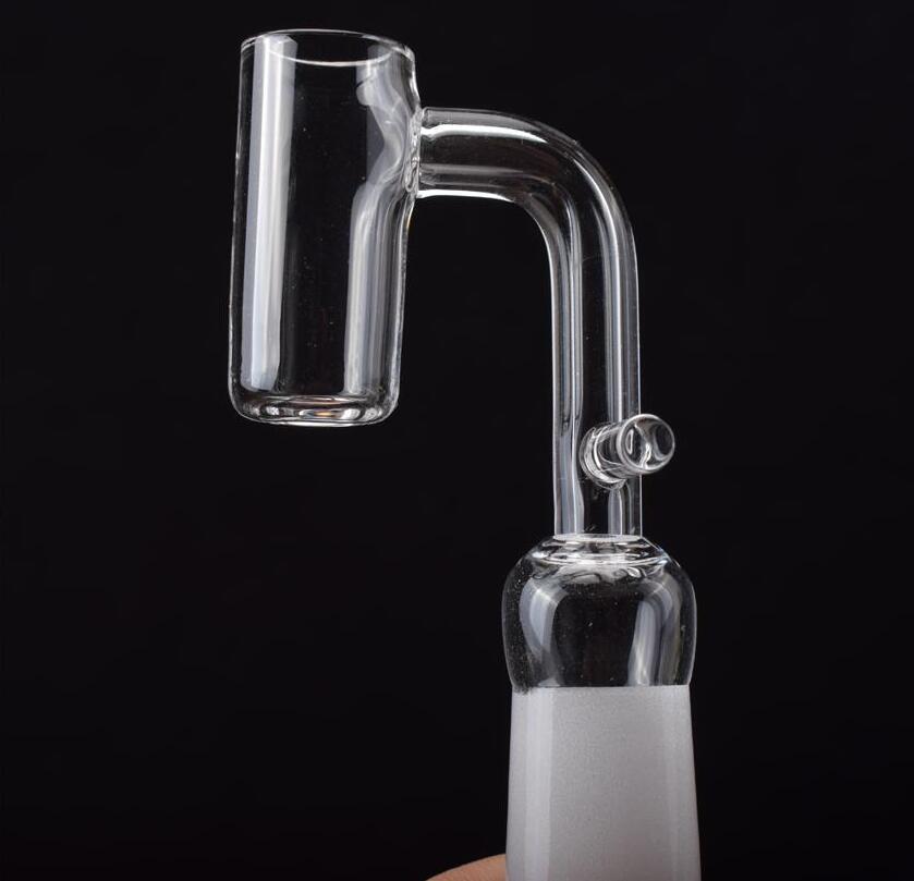 Quarzo enail Domeless Nails bobina adatta 16 millimetri 20 millimetri con la femmina di 90 gradi comune Quart Banger olio del chiodo in forma maschile rigs bong di vetro