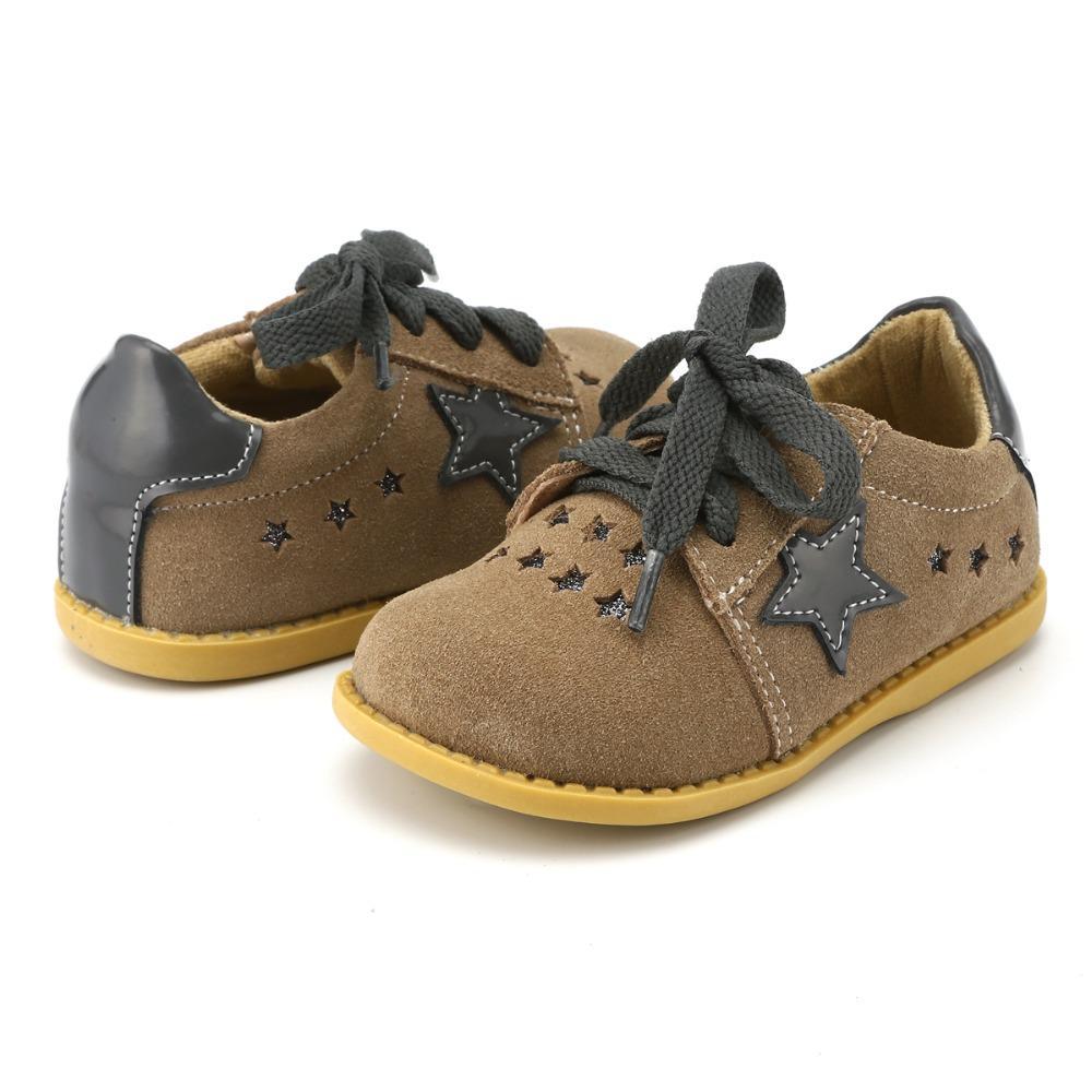 TipsieToes 브랜드 고품질의 정품 가죽 바느질 아이 어린이 신발 소년과 소녀를위한 스타 2018 Apring New Arrival