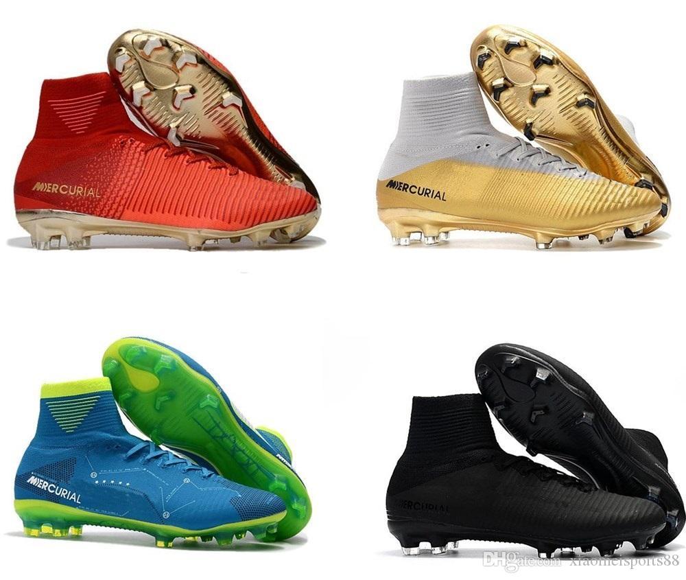 رجل أطفال كرة القدم المرابط زئبقي CR7 ال superfly V FG بنين لكرة القدم أحذية Magista OBRA 2 النساء أحذية كرة القدم كريستيانو رونالدو SCARPE دا كالتشيو