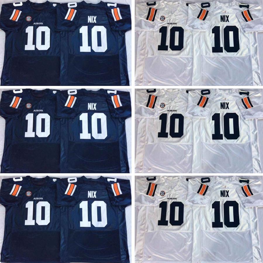 Barato bordado Auburn 10 Bo Nix 24 Daniel Thomas 9 Kam Martin 8 Jarrett Stidham 2 Newton 34 Bo Jackson Colegio cosido blanco azul de los jerseys