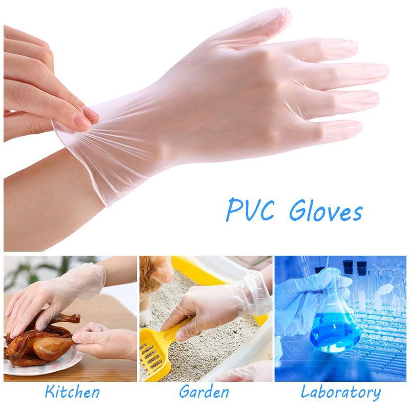 Ev Tek kullanımlık eldiven PVC Temizleme Gıda Eldiven Evrensel Ev Bahçe Temizleme Elastik Eldiven Dokunmatik Ekran engelle Eldiven BH3290 TQQ