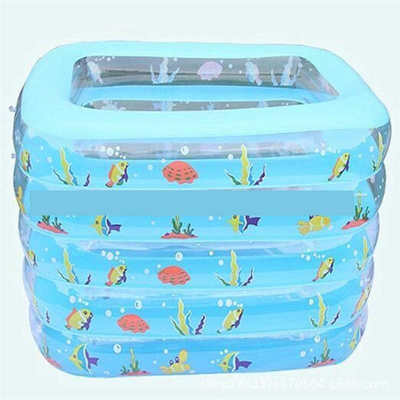 Juguete de los niños de baño piscina inflable Bañera para bebés plaza del medio ambiente del bebé del PVC de baño infantil suministros Piscina Bañera