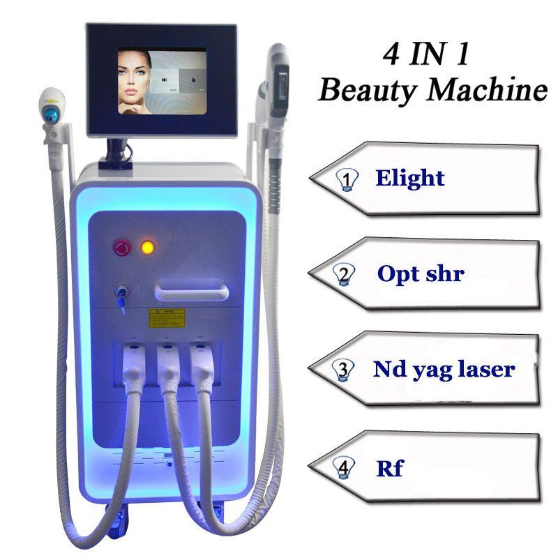 Best ipl freckle removal yag laser sale ipl rf skin tightening 4 in 1 multifunctional machine 3 handles free shipping