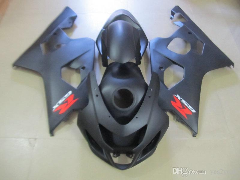 인젝션 페어링 바디 키트 SUZUKI GSXR600 용 750 2004 2005 GSXR 600 GSXR 750 K4 04 05 매트 블랙 페어링 차체 및 선물