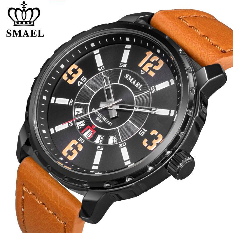 2020 Nova Smael Mens Relógios Moda Top Marca Esporte Quartz Relógio Men Casual Waterproof Data Relógio Masculino Relógio de pulso
